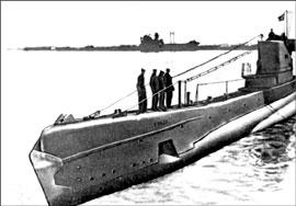 Советская подводная лодка типа щука